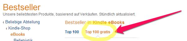 top 100 German gratis bestsellers