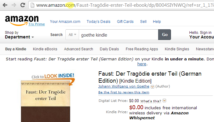 free German Goethe Faust Kindle edition