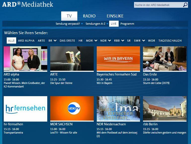 ard mediathek _live