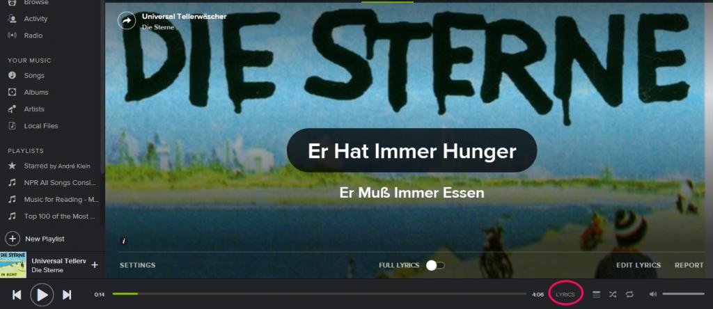 """listening to """"Universal Tellerwäscher"""" by """"Die Sterne"""""""