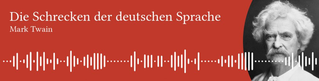Mark Twain's lecture on German language - German audiobooks