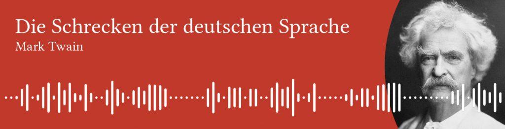 Mark Twain's lecture on German language - German audiobooks